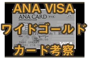 ANA VISAワイドゴールドカードを考察してみた
