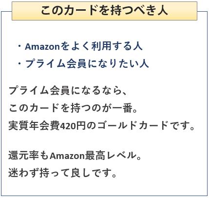 Amazon Mastercardゴールドを持つべき人