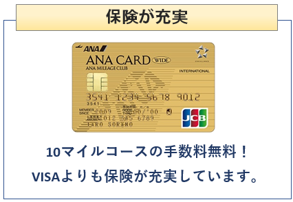 ANA JCBワイドゴールドカードは保険が充実