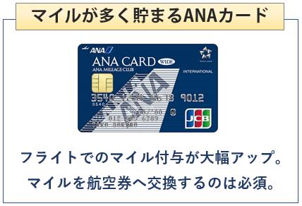 ANA JCB ワイドカードはマイルが多く貯まるANAカード