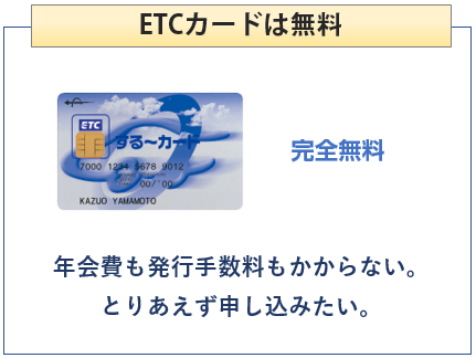 ANA JCB ワイドカードのETCカードは無料