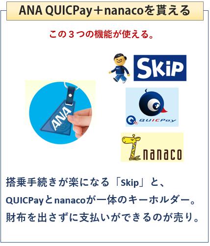 ANAのJCBブランドはQUICPay+nanacoを貰える