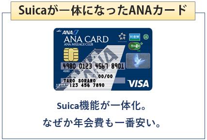 ANA VISA SuicaカードはSuicaが一体になったANAカード