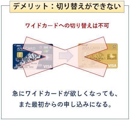 ANA VISA Suicaカードは切り替えができない