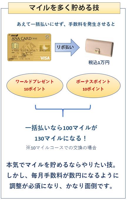 ANA VISAワイドゴールドカードでマイルを多く貯める技