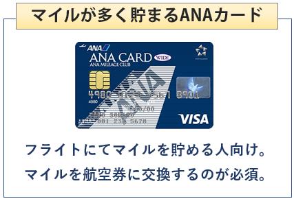 ANA VISAワイドカードはマイルが多く貯まるANAカード