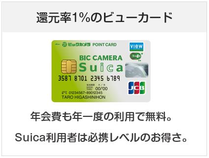 ビックカメラSuicaカードは還元率1.0%