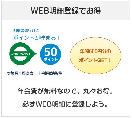 「ビュー・スイカ」リボカードはWEB明細登録&毎月の利用で年間600円儲かる