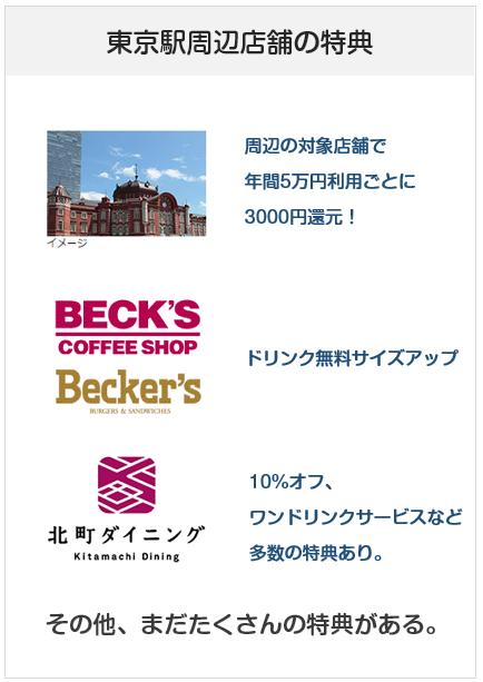 ビューゴールドプラスカードの東京駅周辺の特典