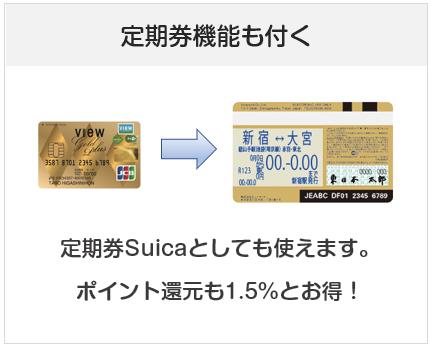 ビューゴールドプラスカードは定期券機能も付けられる