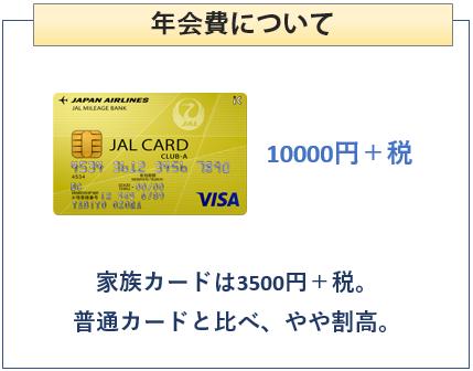 JAL CLUB-Aカードの年会費について