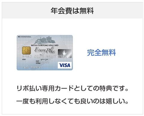 三井住友カードのエブリプラスの年会費について