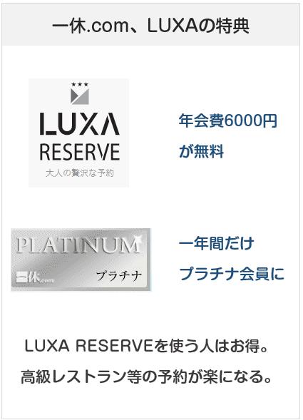 エムアイゴールドカードはLUXAリザーブの会員になれる