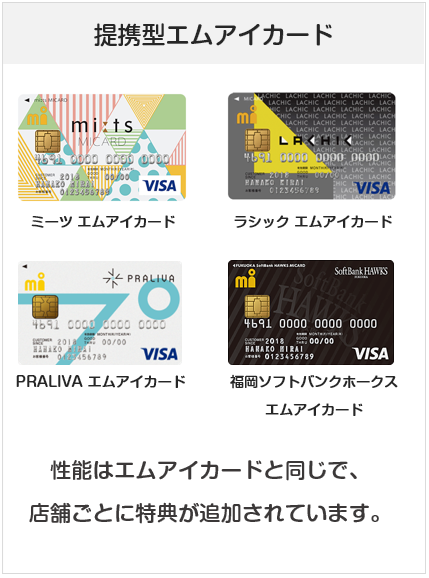 エムアイカードの関連カード