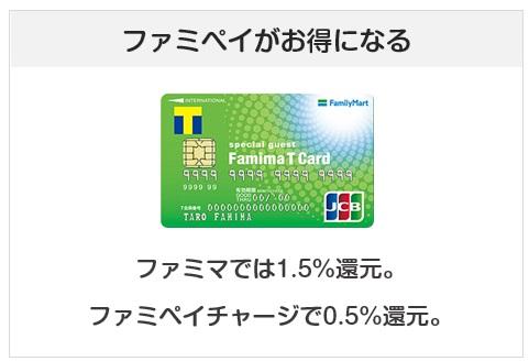 ファミマTカードはファミマで高還元率になるクレジットカード