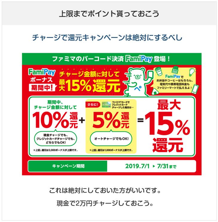 FamiPay(ファミペイ)のチャージで還元キャンペーン