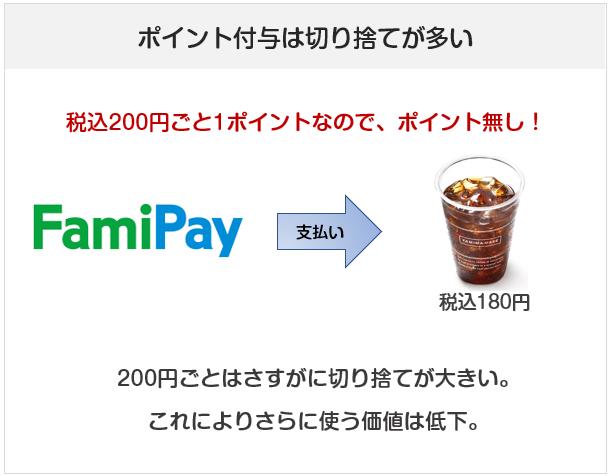 FamiPay(ファミペイ)のポイント還元について注意点