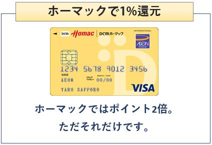 ホーマックカードはホーマックで1%還元