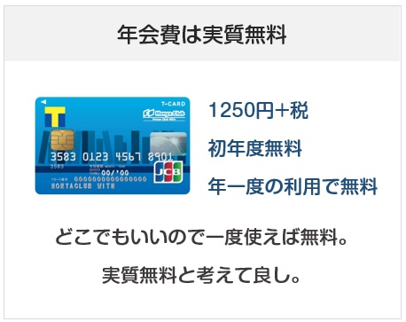 Honya Club With Tカードの年会費は実質無料