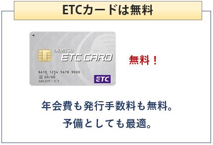 出光カードまいどプラスのETCカードは無料
