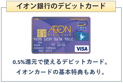イオンデビットカードはイオン銀行のデビットカード
