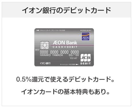 イオン銀行キャッシュ+デビットはイオン銀行のデビットカード