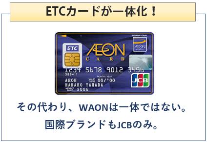 イオンETCカード(一体型)はETCカードが一体化