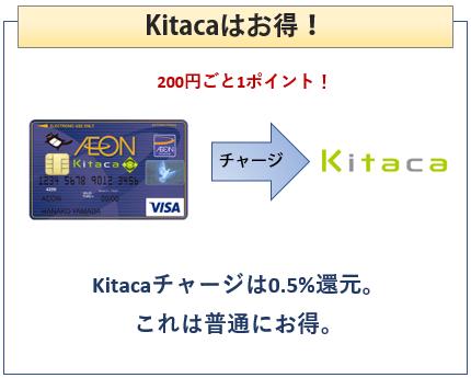 イオンカードKitacaはKitacaチャージで0.5%還元