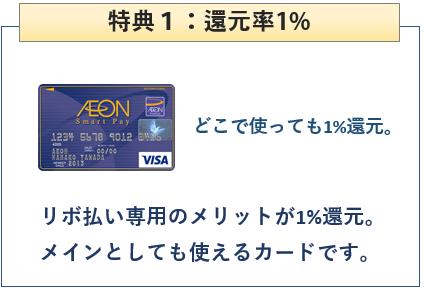 イオンスマートペイカードは還元率1%