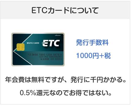 J-WESTカードのETCカードの年会費について(発行手数料が有料)