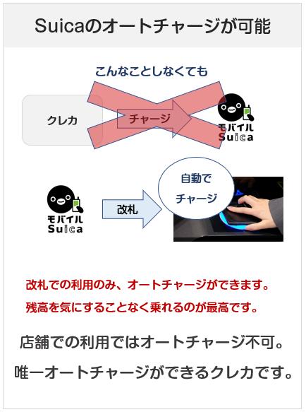 ビューカードはSuicaのオートチャージが可能