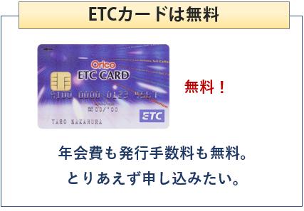 JRタワースクエアカードはETCカード無料