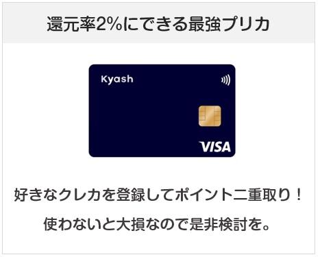 Kaysh Cardは還元率2%にできる最強プリペイドカード