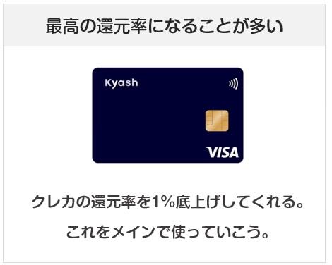 Kyashは1%還元である限り、いつまでも使い続けよう