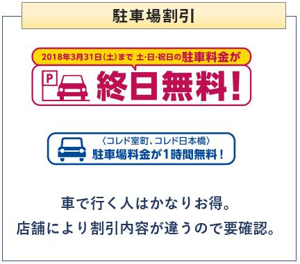 三井ショッピングパークカードの駐車場割引について