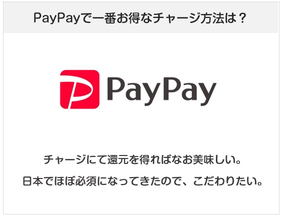 PayPay(ペイペイ)で一番お得なチャージ方法を考察