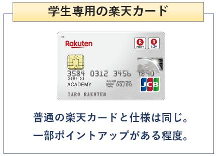 楽天カードアカデミーは学生専用の楽天カード(クレジットカード)