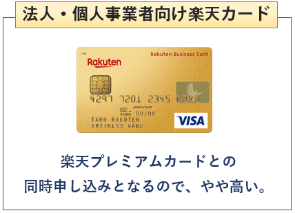 楽天ビジネスカードは法人・個人事業者向け楽天カード
