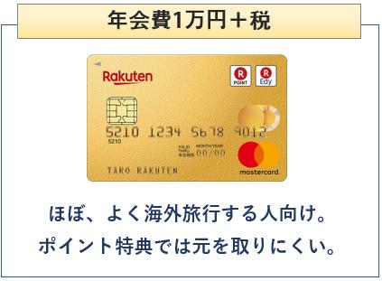 楽天プレミアムカードは年会費1万円+税