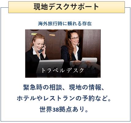 楽天プレミアムカードは現地デスクサポートがある