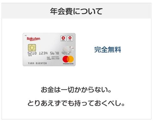 楽天カードは年会費完全無料のクレジットカード