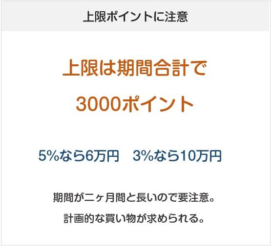楽天ペイの2019年10月からのキャンペーンはポイント付与上限に注意(3000ポイント)