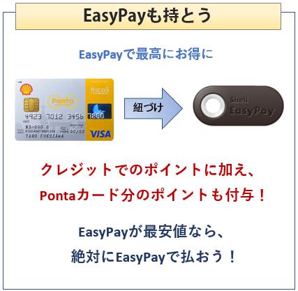 シェルPontaクレジットカードを持ったらEasyPayも持とう
