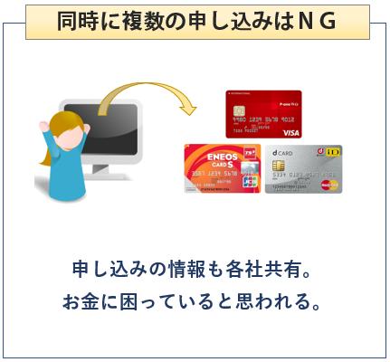 クレジットカードは同時に複数の申し込みはNG
