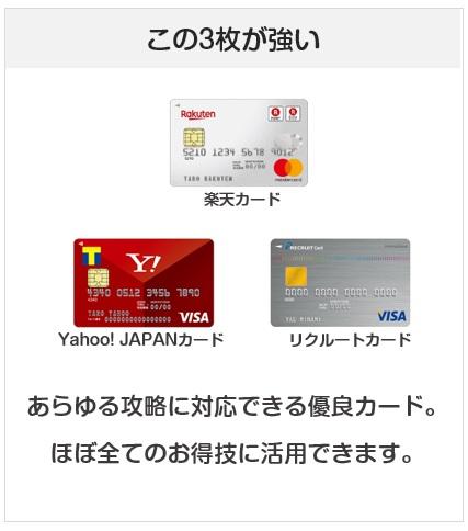 攻略で必要となってくるクレジットカード