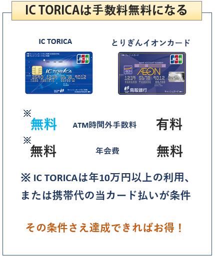 IC TORICAととりぎんイオンカードの比較