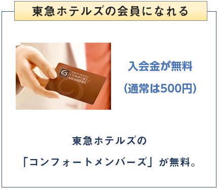 東急カードは東急ホテルズの会員に無料でなれる