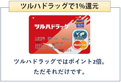 ツルハドラッグカードはツルハドラッグで1%還元