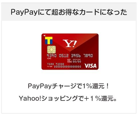 Yahoo! JAPANカードはPayPayチャージで1%還元となるクレジットカード