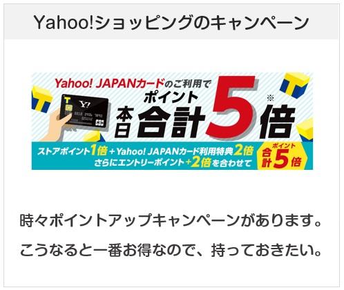 Yahoo! JAPANカードのYahoo!ショッピングでのポイントアップキャンペーンについて